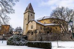 Castelo velho em Freistadt - Upper Austria fotos de stock