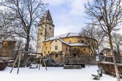 Castelo velho em Freistadt - Upper Austria imagens de stock