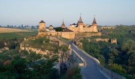 Castelo velho em Kamenets-Podolsky Ucrânia Foto de Stock