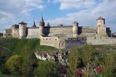 Castelo velho em Kamenets-Podolsky Ucrânia Fotografia de Stock Royalty Free