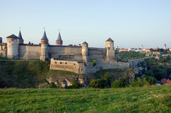 Castelo velho em Kamenets-Podolsky Ucrânia Imagem de Stock Royalty Free