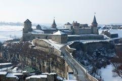 Castelo velho em Kamenets-Podolsky Ucrânia Imagens de Stock