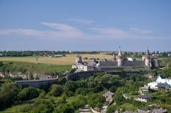 Castelo velho em Kamenets-Podolsky Ucrânia Fotos de Stock
