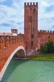 Castelo velho em Verona Foto de Stock