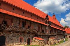 Castelo velho na ilha, a cidade de Trakai, Lituânia Imagens de Stock