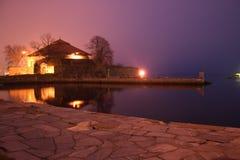 Castelo velho na noite Fotos de Stock