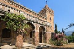 Castelo velho no console Greece de Corfu Imagem de Stock