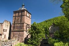 Castelo vermelho em Heidelberg foto de stock