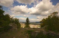 Castelo Wartenbert na vila Muttenz Fotos de Stock Royalty Free