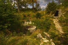 Castelo Wartenbert na vila Muttenz Imagens de Stock Royalty Free