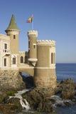 Castelo Wulff em Vina del Mar, o Chile fotografia de stock