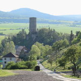 Castelo Zebrak Fotos de Stock Royalty Free