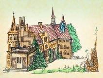 Castelos ilustração royalty free