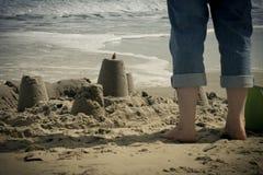Castelos da areia Fotografia de Stock