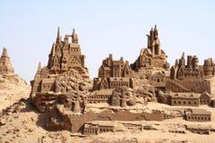 Castelos da areia fotografia de stock royalty free