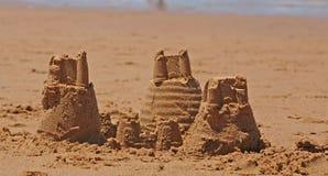 Castelos da areia Imagens de Stock Royalty Free