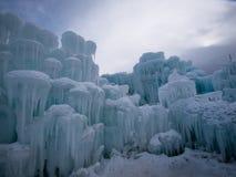 Castelos do gelo Fotografia de Stock