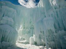 Castelos do gelo Fotos de Stock Royalty Free