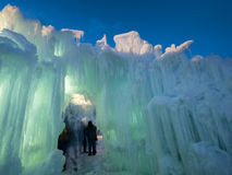 Castelos do gelo Foto de Stock Royalty Free