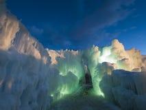 Castelos do gelo Imagens de Stock Royalty Free