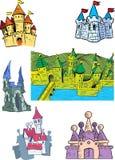 Castelos dos desenhos animados Foto de Stock