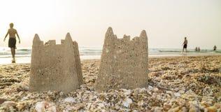 Castelos na areia Imagens de Stock Royalty Free