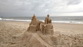 Castelos na areia Imagem de Stock Royalty Free