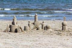Castelos na areia, porto Aransas Texas Imagem de Stock