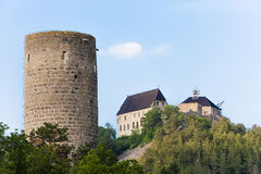 Castelos Zebrak e Tocnik Imagem de Stock