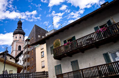 Castelrotto architecture Royalty Free Stock Photos