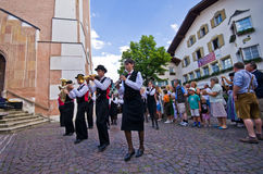 Castelrotto folk festival Stock Image