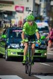 Castelrotto, Italie le 22 mai 2016 ; Davide Formolo, cycliste professionnel, pendant une montée d'essai de difficulté images libres de droits