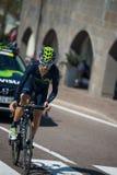 Castelrotto, Italien am 22. Mai 2016; Giovanni Visconti-Berufsradfahrer, während eines Probeaufstiegs der schweren Zeit Stockbilder