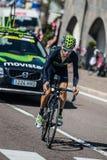 Castelrotto, Italien am 22. Mai 2016; Giovanni Visconti-Berufsradfahrer, während eines Probeaufstiegs der schweren Zeit Lizenzfreies Stockbild