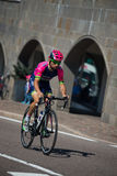 Castelrotto, Italy May 22, 2016; Diego Ulissi, professional cyclist,  during a hard time trial climb Stock Photography