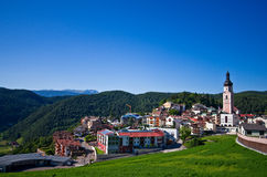 Castelrotto (Kastelruth) townscape Royalty Free Stock Photo