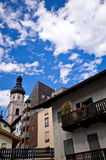 Castelrotto (Kastelruth) townscape Royalty Free Stock Photos