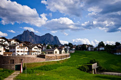Castelrotto (Kastelruth) townscape Royalty Free Stock Images