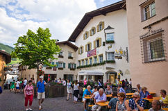 Castelrotto old town main square Royalty Free Stock Image
