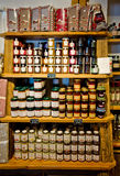 Castelrotto speck shop interior Stock Images