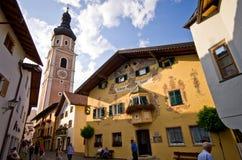 Castelrotto-Stadtmitte Lizenzfreies Stockfoto