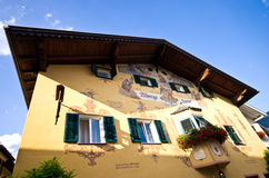 Castelrotto town centre Royalty Free Stock Photography