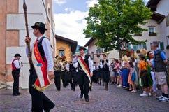 Castelrotto volksfestival Royalty-vrije Stock Fotografie