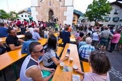 Castelrotto volksfestival Royalty-vrije Stock Foto