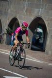 Castelrotto, Włochy Maj 22, 2016; Diego Ulissi, fachowy cyklista podczas ciężcy chwile próbnej wspinaczki, Fotografia Stock