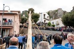 Castelsaraceno, Włochy, 18-06-2017: Losu Angeles Festa della ` Ndenna, Rito obrazy royalty free