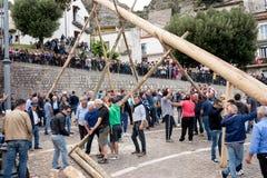 Castelsaraceno, Włochy, 18-06-2017: Losu Angeles Festa della ` Ndenna, Rito obraz royalty free