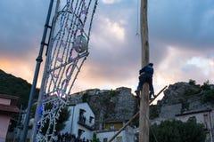 Castelsaraceno, Włochy, 18-06-2017: Losu Angeles Festa della ` Ndenna, Rito zdjęcie royalty free