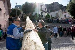 Castelsaraceno, Włochy, 18-06-2017: Losu Angeles Festa della ` Ndenna, Rito fotografia royalty free