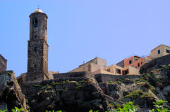 castelsardo大教堂撒丁岛 库存图片